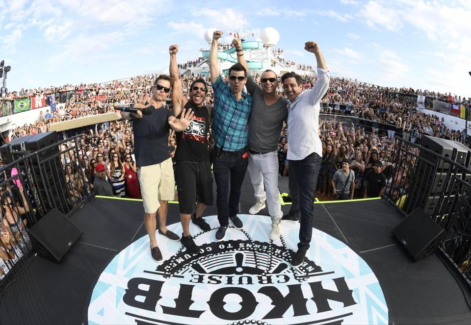 Joey McIntyre, Danny Wood, Jordan Knight, Donnie Wahlberg, and Jon Knight have hosted the four-day NKOTB cruise nine times.